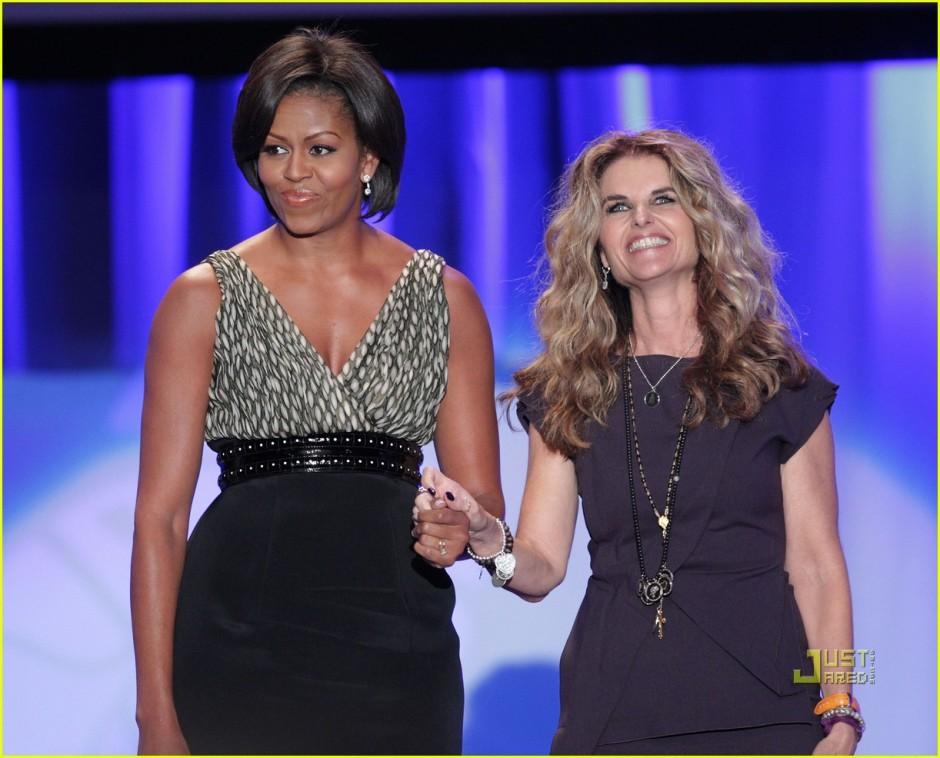 michelle-obama-maria-shriver-womens-conference